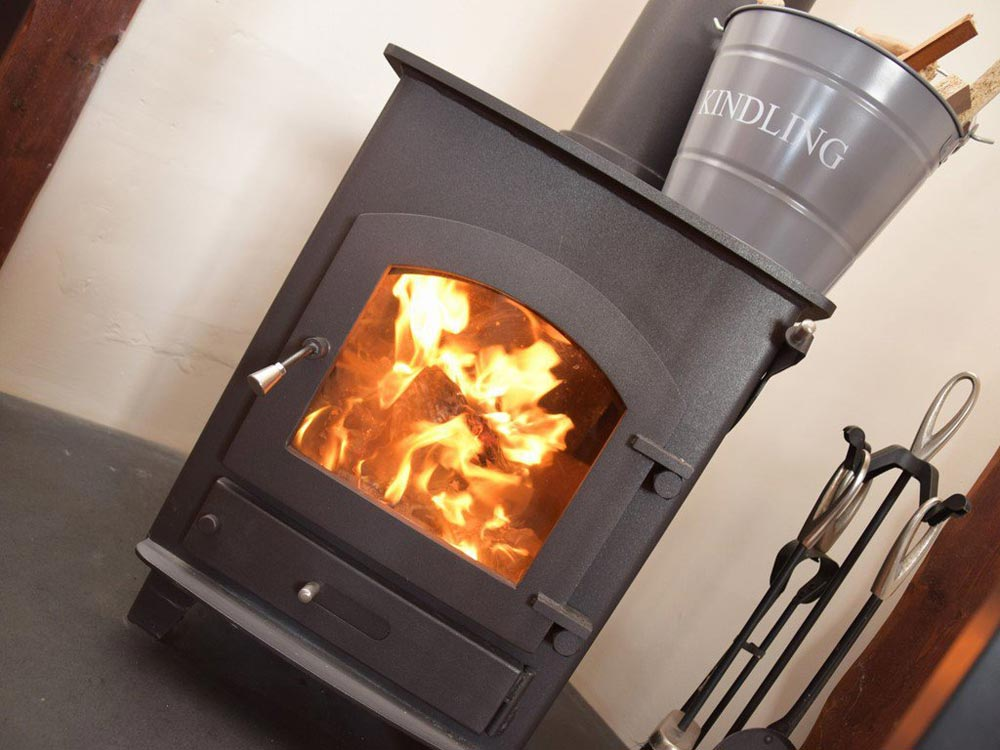 Stay warm in front of the wood burner